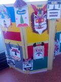 Изложба на кукерски маски-ПГ-5г.,под ръководството на г-жа Валя Василева - ДГ №8 Слънце - Търговище