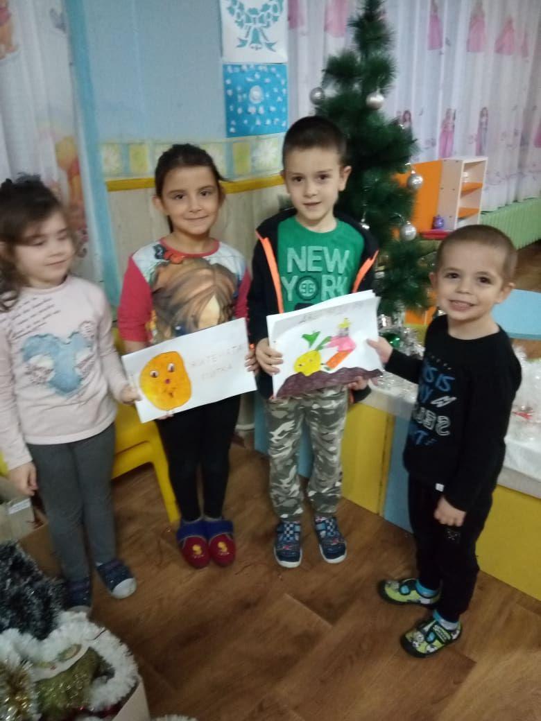 Посещение на децата от ПГ6г. в Детския отдел на библиотеката - седмица на четенето - голяма снимка